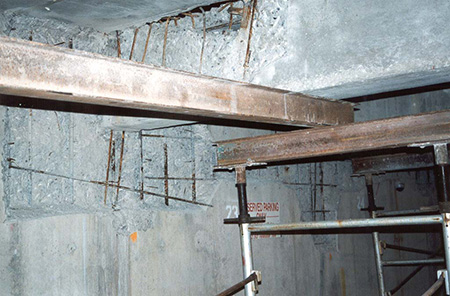 Photo of Underground Parking Garage Concrete Structure Repair and Strengthening
