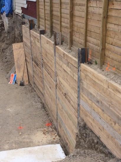 Permanent timber walls